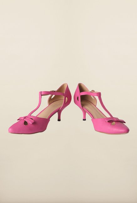 Allen Solly Pink Ankle Strap Sandals