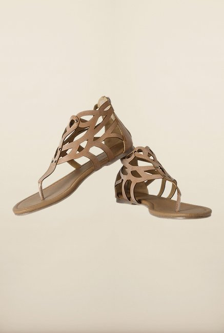 Allen Solly Brown Casual Sandals