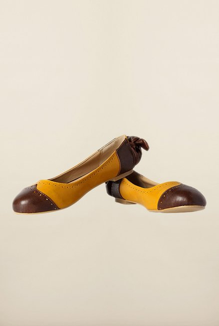 Allen Solly Brown & Yellow Ballerinas