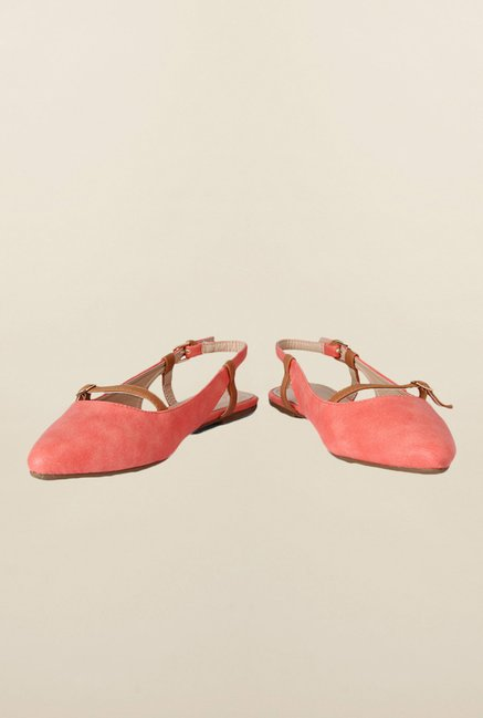 People Peach Back Strap Sandals