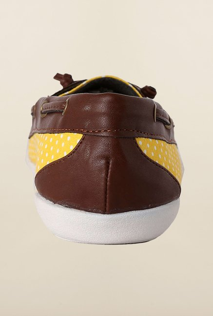 People Yellow & Brown Boat Shoes