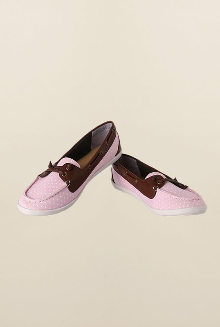 People Pink & Brown Boat Shoes