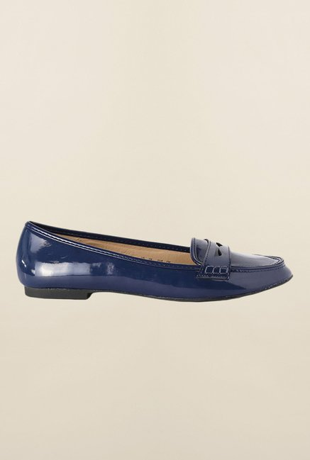 People Navy Casual Ballerinas
