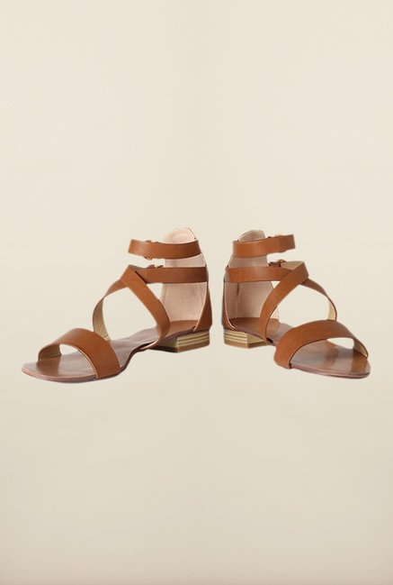 Allen Solly Brown Ankle Strap Sandals