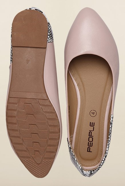 People Baby Pink Flat Ballerinas