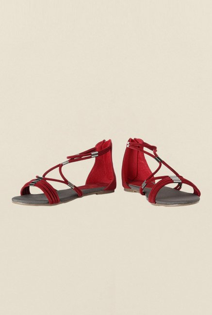 Van Heusen Red Ankle Strap Sandals