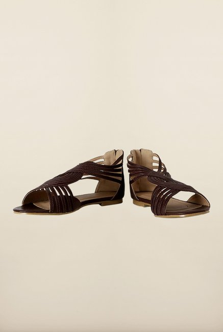 Allen Solly Brown Huarache Sandals
