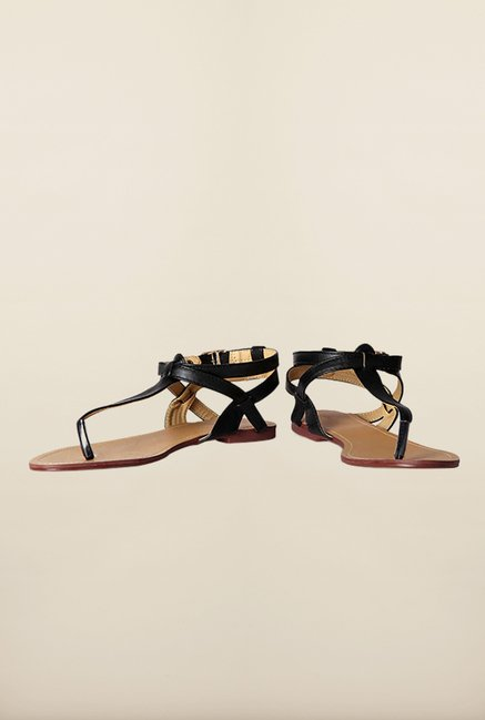 Allen Solly Black Ankle Strap Sandals