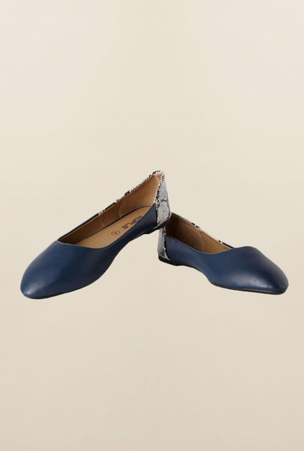 People Navy Flat Ballerinas