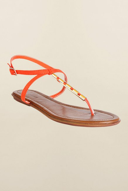 Van Heusen Orange Back Strap Sandals