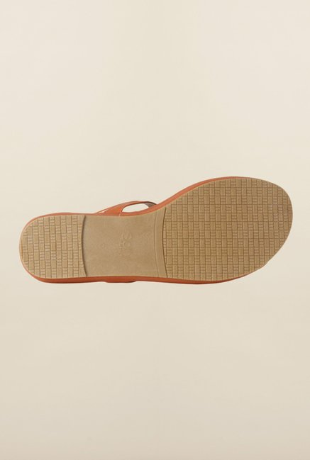 Allen Solly Brown Back Strap Sandals