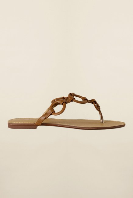 Allen Solly Brown Flat Thongs