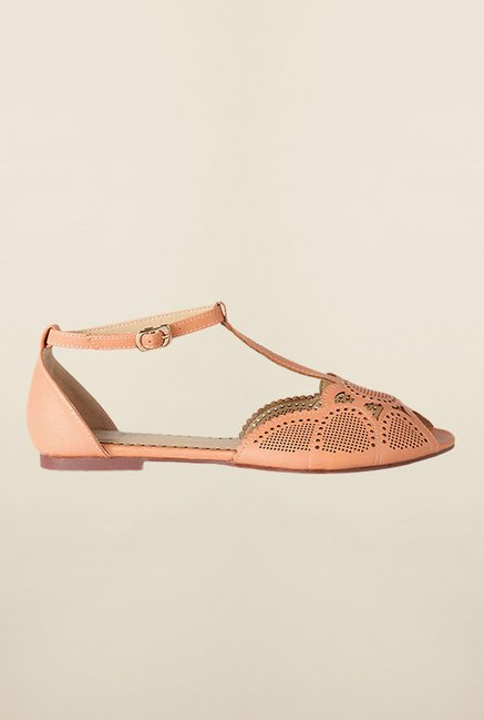 Allen Solly Peach Ankle Strap Sandals