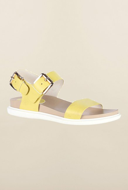 Van Heusen Yellow Ankle Strap Sandals