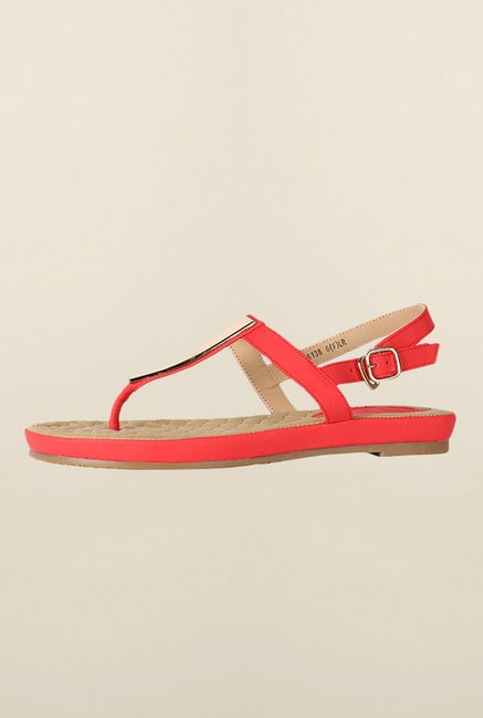 Allen Solly Red Back Strap Sandals