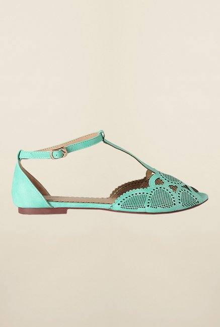 Allen Solly Turquoise Ankle Strap Sandals