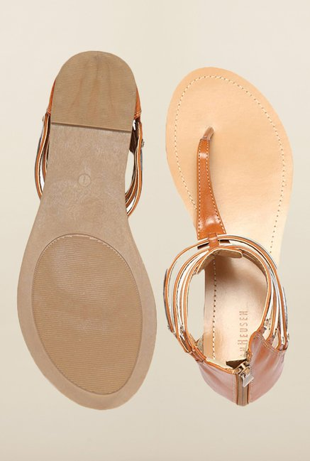 Van Heusen Brown Flat Sandals