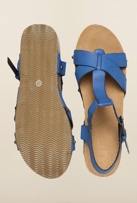 Allen Solly Blue Ankle Strap Wedges
