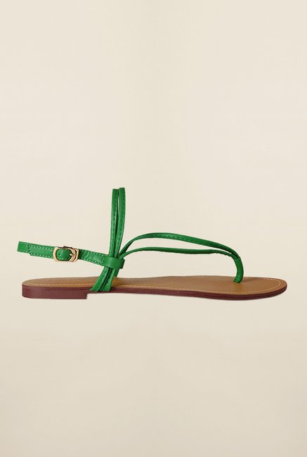 Allen Solly Green Back Strap Sandals