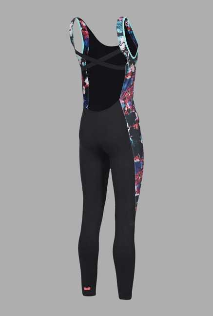 Doone Black Solid Training Jumpsuit
