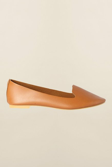 Allen Solly Tan Flat Ballerinas
