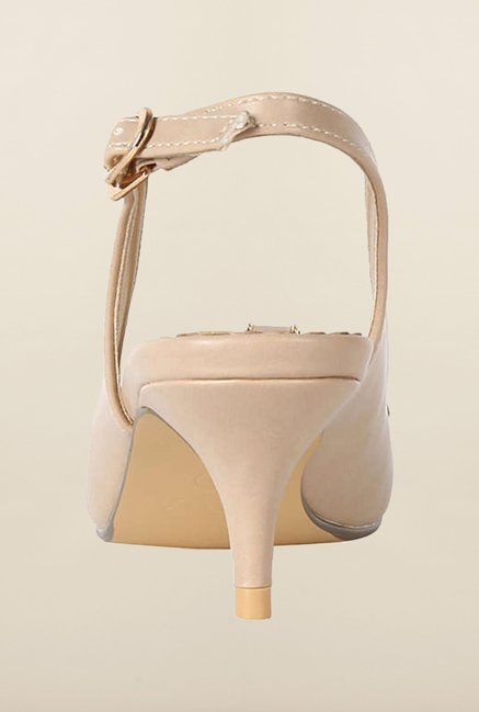 Allen Solly Beige Back Strap Sandals