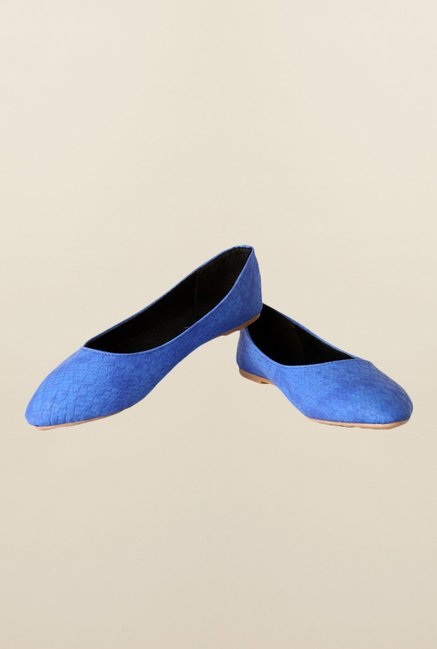 People Blue Flat Ballerinas