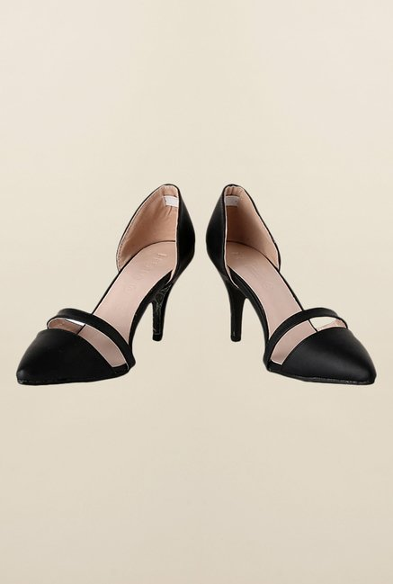 People Black Stiletto Sandals