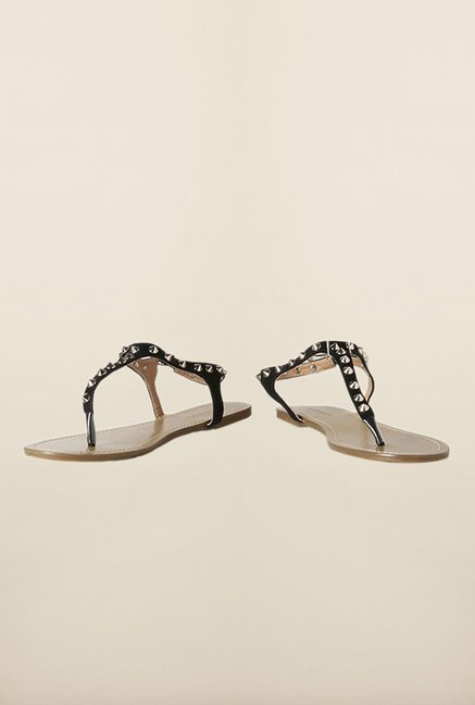 Van Heusen Black Back Strap Sandals