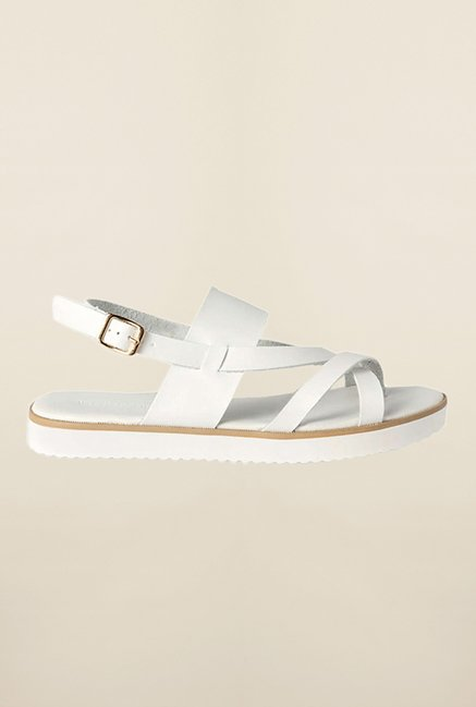 Van Heusen White Back Strap Sandals