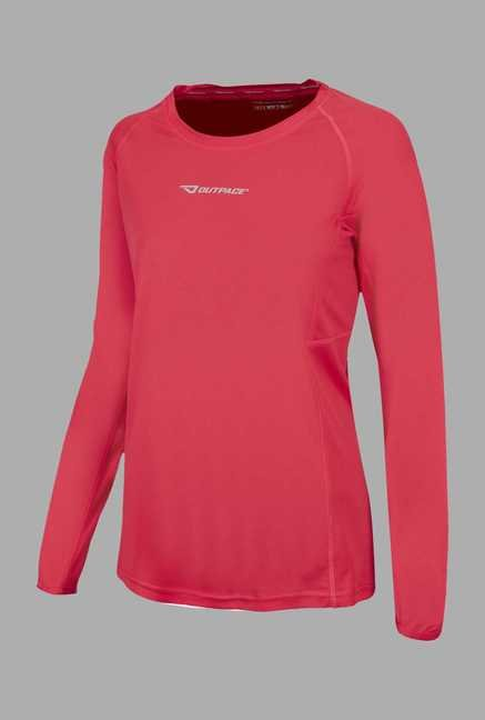 Outpace Pink Full Sleeves Running Sweatshirt