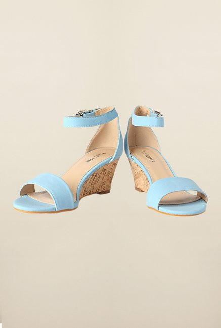 Van Heusen Blue Ankle Strap Wedges