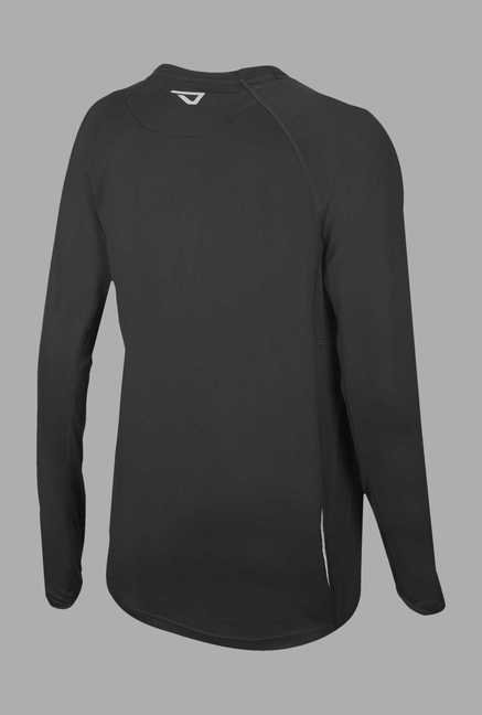 Outpace Black Full Sleeves Running Sweatshirt