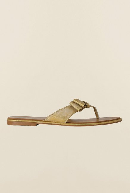 Allen Solly Golden Flat Thongs