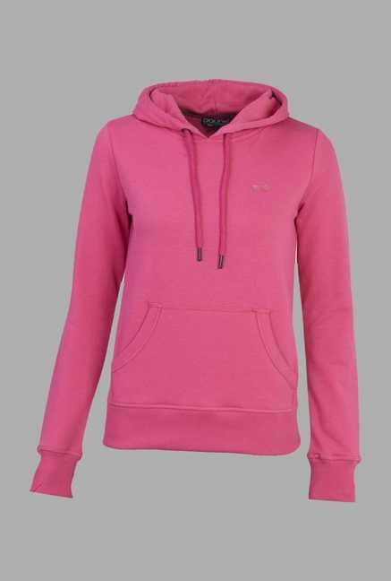 Doone Pink Solid Training Sweatshirt