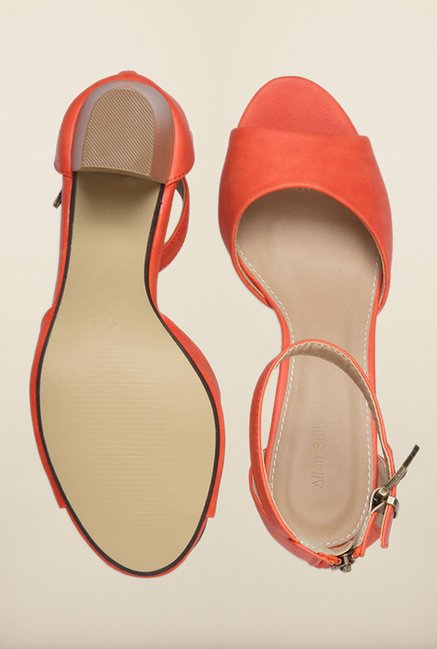 Allen Solly Orange Ankle Strap Sandals