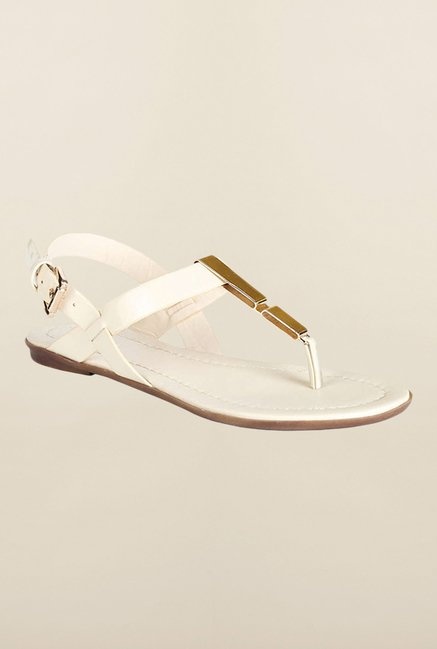Van Heusen Cream Back Strap Sandals