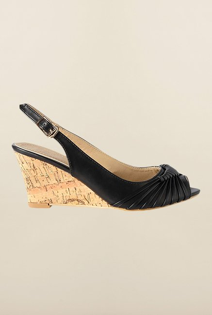 Allen Solly Black Back Strap Wedges