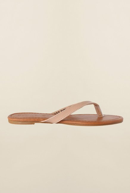 People Beige Thong Sandals