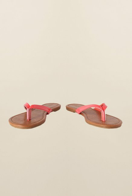 People Pink Flat Thong Sandals