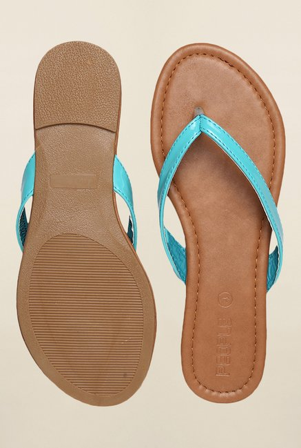 People Turquoise Flat Thong Sandals