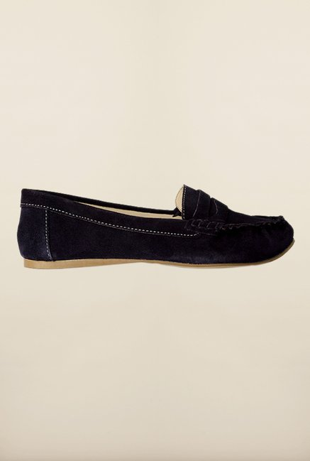 Van Heusen Dark Purple Casual Loafers