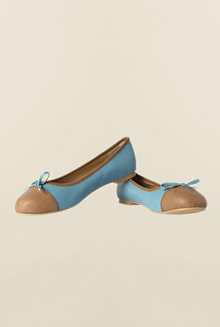 Allen Solly Blue & Brown Flat Ballerinas
