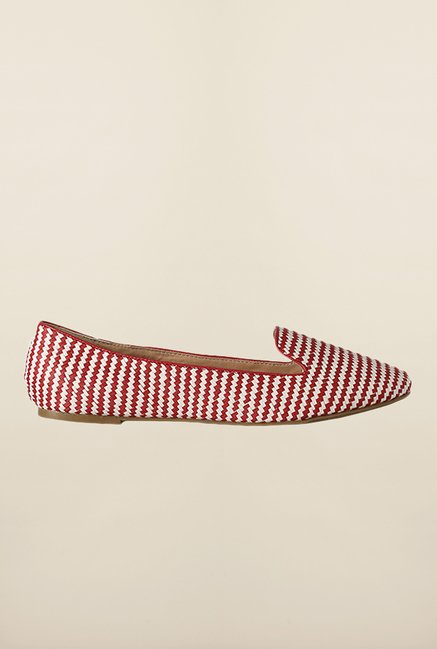 Van Heusen Red & White Ballerinas