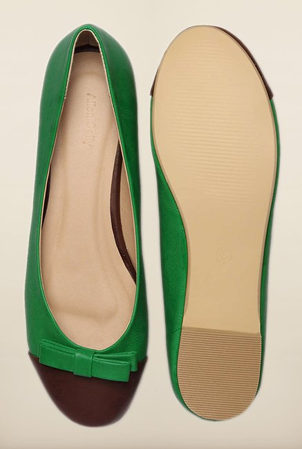 Allen Solly Green & Brown Ballerinas