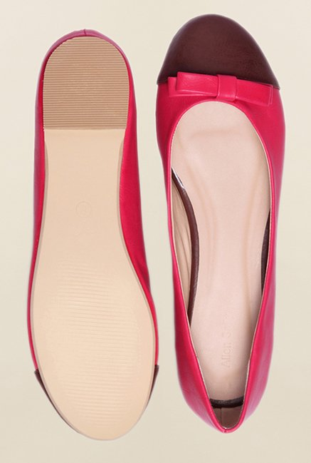 Allen Solly Pink & Brown Flat Ballerinas