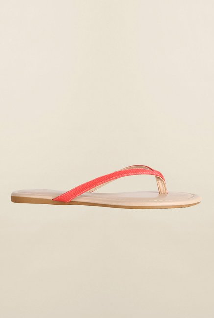 Allen Solly Red Thong Sandals