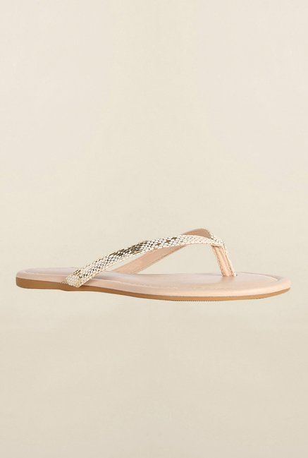 Allen Solly Golden Thong Sandals