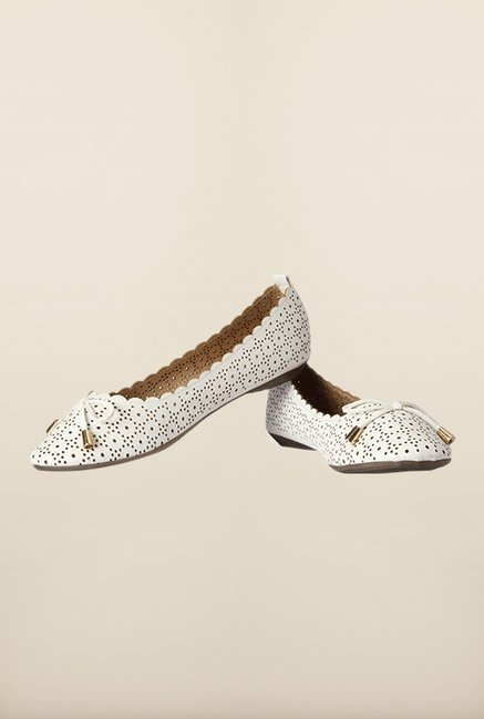 Allen Solly White Flat Ballerinas