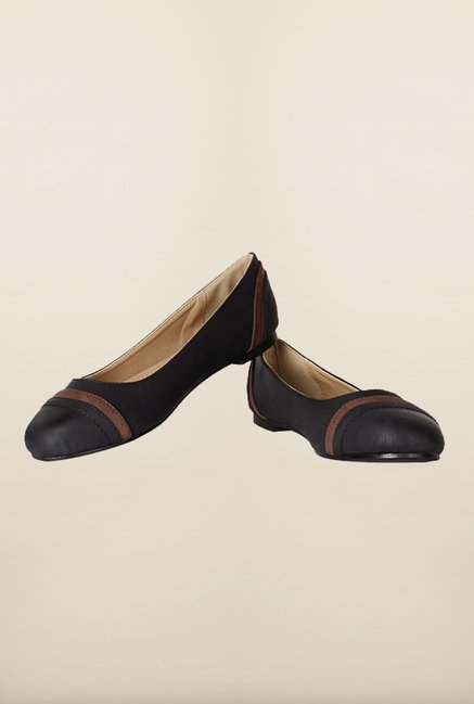 Allen Solly Black Flat Ballerina Shoes